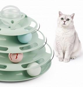 貓貓自嗨解悶玩具 - 四層轉盤球
