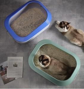 PETSHY - 輕元素半封閉貓砂盆大號防帶砂防外濺屎貓咪廁所