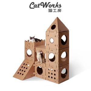 貓工房 - 貓抓板磨爪器  | 寵物貓窩紙箱別墅 (自組配件)