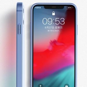 iPhoneX秒變12 - 液態矽膠全包Max直角邊方形 - 2021年新款潮牌網紅個性創意套