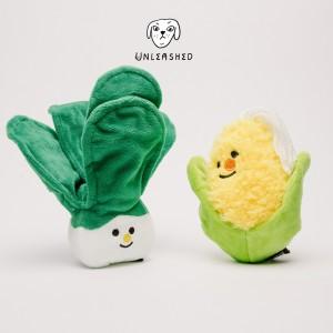 韓國馬爾濟斯   可愛蔬菜玉米白菜寵物 含響紙發聲