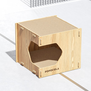 POPOCOLA - 貓抓板房子貓窩 | 一體耐磨不掉屑磨爪器