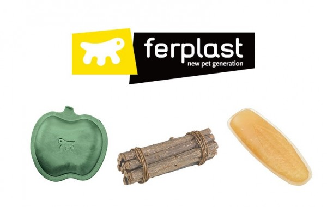 Ferplast - 倉鼠磨牙棒 | 磨牙石補鈣蘋果樹枝條熊兔玩具零食用品