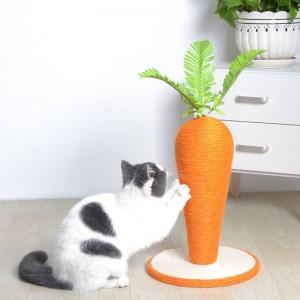 可愛蘿蔔貓抓柱