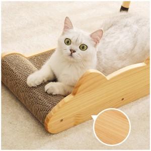 多功能實木貓咪床 | 瓦通紙貓抓板