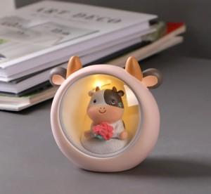 可愛牛牛擺件 | 臥室 房間 室內 | 家居裝飾品 | 幸福感小物件 | 女日式禮物 夜燈