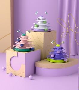 PETSHY - 迷失森林貓轉盤玩具貓咪逗貓棒自嗨解悶神器用品