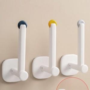 免打孔掛鉤   黏膠承重牆上   門後掛鉤廚房衛生間   無痕粘貼可調支架 (超強力)